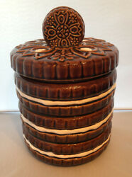 Vintage 1970 Ceramic Stacked Oreo Cookie Jar W/lid Collective