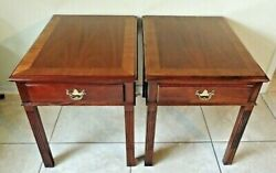 Pair Of Hickory Chair Co James River Plantation Colection Side/end Table