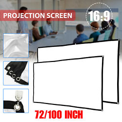 72quot; 100quot; 16:9 Manual Pull Down Projector Projection Screen Home Theater Movie