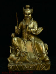 China Brass Zhang Eastern Han Founder Of Tianshi Celestial Master Sect Statue