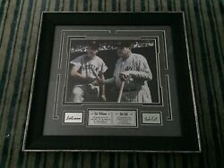 Babe Ruth And Ted Williams Photo Engraved Signature Series Framed 16x16