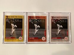2020 Topps Now Turn Back The Clock Bob Gibson 88 Ash, Cherry, And Base. All 3