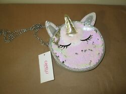 Capelli Unicorn Crossbody Girls Purse. Multi Sparkle Face. NWT. $9.99