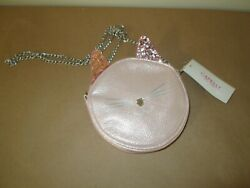 Capelli Pink Kitten Crossbody Girls Purse. Sparkle Ears NWT. $9.99