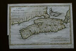 Canada-map De L'accadie 1744 From Charlevoix