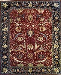 Hand-knotted Rug Carpet 7'11x9'7, Kerman Mint Condition
