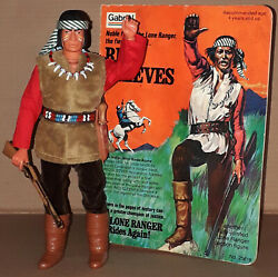 Vintage 70's Gabriel/marx The Lone Ranger Red Sleeves Apache Action Figure Mib