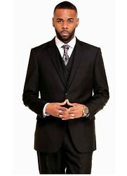 3 Piece Suit For Men Black Grey Navy Red Green Charcoal Classic Fit With Vest