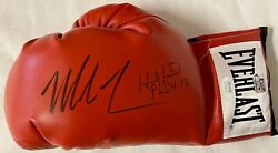 Mike Tyson And Evander Holyfield Signed Left Red Boxing Glove Jsa Tyson Hologram B