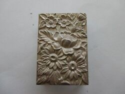 Vintage S. Kirk And Son Sterling Silver Repousse Floral Match Cover Box Holder 90f