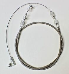 36 Inch Braided Stainless Throttle Cable, Accelerator Cable, Ford, Chev, Holden