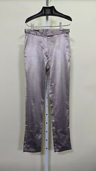 Helmut Lang Archive Vintage Silver Gloss Big Cuff Pants 42 Italy