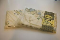 Vintage Stevens Utica Twin Flat And Fitted Elegante Percale Sheets Unopened