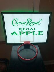 Crown Royal Regal Apple Nba Basketball Hoop Led Bar Sign Man Cavewhiskey Whisky