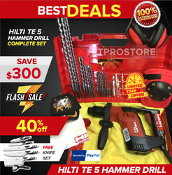 Hilti Te 5 Hammer Drill, Preowned, Free Knife Set, Free Extras, Fast Ship