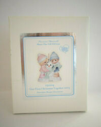 Precious Moments Our First Christmas Together 2013 Porcelain Ornament 131004 Nib