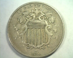 1866 Rays Shield Nickel Extra Fine+ Xf+ Extremely Fine+ Ef+ Nice Original Coin
