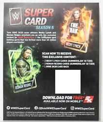 Wwe 2k20 Deluxe Supercard Season 5 - Roman Reigns And Becky Lynch Super-card Qr