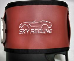 Saturn Sky Redline Console Bag New Embroidered Silver On Cobalt Red Free Ship