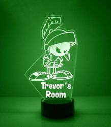 Marvin The Martian Personalized Free Led Night Light Lamp + Remote Light Up