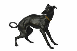 Whipped Dog Bronze Statue - Size 33l X 13w X 30h.