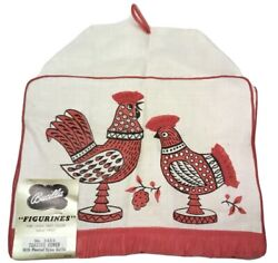 Vintage Bucilla Figurines Toaster Cover No. 5625 Pleated Nylon Ruffle Rooster