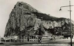 Gibraltar North View Rock From Airport Airfield Plane Rppc Real Photo Vintage P2