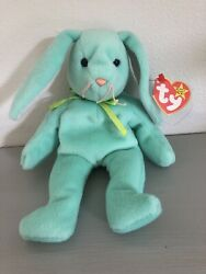 Hippity The Rabbit Ty Beanie Baby, Rare, New, P.v.c Pellets And With Errors.