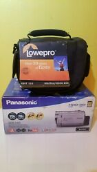 Panasonic Sdr-h80p Sd And Hdd Camcorder 70x Optical Zoom W/ Battery/charger Bag