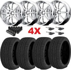22 Chrome Wheels Rims Tires 265 40 22 265/40/22 Luxury Range Rover Asanti Lexani