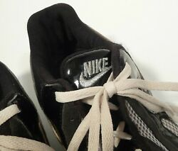 Nike Menand039s Track Shoxandnbsp Size 11 Lite Wt. In Gray Mesh Top And Black Synthetic Sides