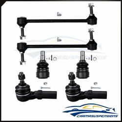 For 2005-2006 Ford Mustang 6pc Front Suspension Ball Joint Tie Rod Sway Bar Kit
