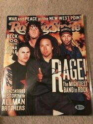 Rage Against The Machine Signed Rolling Stone By 4 Autographed Bas Not Psa Proof