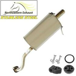 Stainless Steel Exhaust Muffler With Hangers And Bolts Fit 2007-2009 Honda Cr-v
