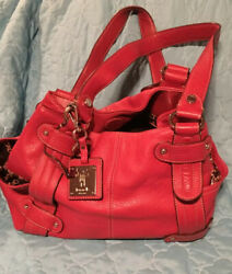 TIGNANELLO Red Leather Satchel Purse $20.00