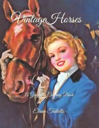 Vintage Horses: A Grayscale Coloring Book
