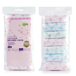 7pcs Ladies Disposable Panties Cotton Wrapped Travel Women#x27;s Paper Underwear $6.71
