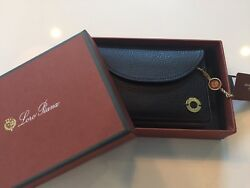 590 Loro Piana Black Leather Set Of Cards Made In Italy