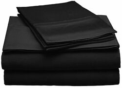 1000 Thread Count Egyptian Cotton Black Solid/striped Bedding Items All Us Sizes