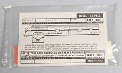 Walthers Ho-o Gauge Train Decals Chicago North Western Locomotive 38-93 2