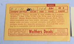 Walthers Ho-o Gauge Train Decals Gold Stripping D-3-31 2