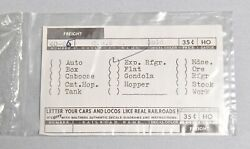 Walthers Ho-o Gauge Train Decals C. B. And O.exp. Refrigerator 40-66 2