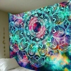 Trippy Mandala Tapestry Psychedlic Hippie Wall Hanging Home Decor Tapestries USA