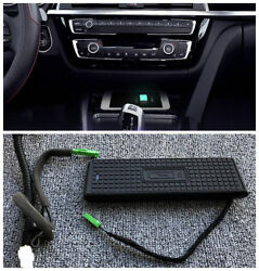 Console Storage Box Wireless Charging Charger For Bmw F30 F31 F32 F36 3 4 Series