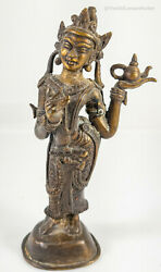 Antique Chinese Indian Tibetan Lost Wax Bronze Tara Bohdisvatta Buddha $200.00