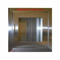 Aed Brushed Stainless Steel Wall Defibrillator Cabinet - Alarmed
