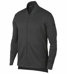 New Menand039s Nike Dri-fit Rivalry Full-zip Jacket In Anthracite Dark Gray Black