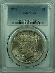 1922 Peace Silver Dollar 1 Coin Pcgs Ms-65 Toned 29 A