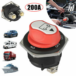 200a Battery Isolator Disconnect Rotary Switch Cut Off For Car Marine Boat Truck