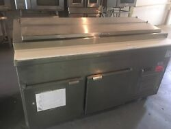 Low Temp 2 Door Stainless Steel Refrigerated Sandwich Prep Table